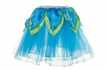 Douglas Cuddle Toys Aqua Blue Tutu / Bright Green Petals - M (50448)