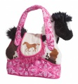 Douglas Cuddle Toys Rodeo Pink Tote W/b&w Horse (2135)