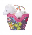 Douglas Cuddle Toys Fly Away Tote W/white Horse (2142)
