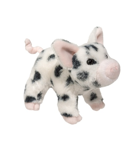Douglas Cuddle Toys Black Spotted Pig (1541)