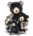 Douglas Cuddle Toys Bjorn Black Bear Pudgie Medium with Scarf (7752C)
