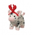 Douglas Cuddle Toys Leroy Pig W/black Spots W/red Antlers (1541H)