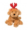 Douglas Cuddle Toys Molasses Caramel Labradoodle W/red Antlers (3990H)